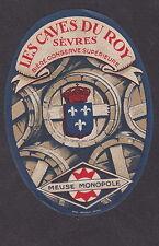 Ancienne étiquette Bière Alcool France  BN19504 Bière Cave du Roy Sèvres Meuse