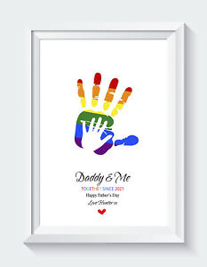 Personalised Fathers Day Gifts Birthday Daddy Son Daughter Unframed Print ONLY