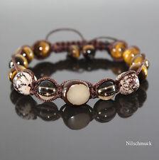 Herren Armband  Smoky Quartz  Beads Kugelarmband Perlenarmband