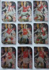 Arsenal Futera 1999 Fans Selection Vortex Set 9 cards.