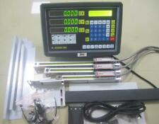 Precision 3axis 5m Digital Readout Dro Display3pc Linear Scale Mill Lathe Kit