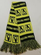 Vintage YELLOW PAGES Advertising Knit Scarf 58