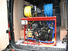 Robojet WXi water jetter van pack  - 3,000psi/ 9.1gpm. Diesel, water cooled