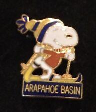 ARAPAHOE BASIN Snoopy Skiing Ski Pin Colorado CO Resort PEANUTS Aviva Travel