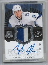 13-14 UD THE CUP ROOKIE AUTOGRAPH PATCH #167 TYLER JOHNSON RC AUTO 201/249 3CL
