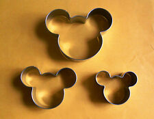 3 size Mickey Mouse Fondant Pastry Baking Biscuit Cookie Cutter Metal Set