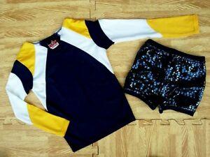"""NEW GIRL XS/S Cheerleader Uniform Top Sequin Dance Shorts 23-25/18-21"""" Cosplay"""