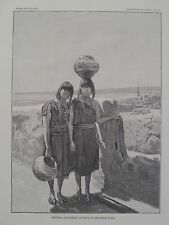 Zia Indian Pueblo New Mexico Sisters Artists in Pottery Vases 1894