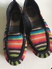 The Sak Crochet Colorful Woven Ballet Flats Women's Size 8 Shoes Slip On