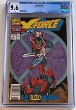 X-Force #2 CGC 9.6 NM+ Rare Newsstand Edition 1991 1st Weapon X 2nd App Deadpool