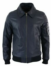 Mens Genuine Real Leather Harrington Bomber MA1 Classic Pilot MOD Jacket XS-5XL