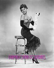 PAULETTE GODDARD 8x10 Lab Photo 1948 SEXY GLAMOUR Shuffling Cards Portrait
