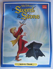 McDonald's Sword in the Stone Activity Book 1987 - Unused with Coupons