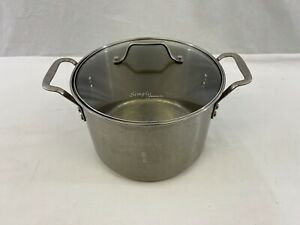 Simply Calphalon 8 Qt STAINLESS STEEL # 8608 Pot With Glass Lid , used once