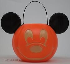 Mickey Mouse Disney Halloween Trick or Treat Pumpkin Candy Pail Bucket Blow Mold