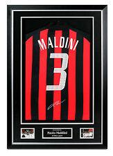 Paolo Maldini Signed AC Milan Shirt Framed Autograph #3 Jersey Memorabilia COA