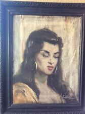 GYPSY GIRL HUNGARIAN OIL PAINTING