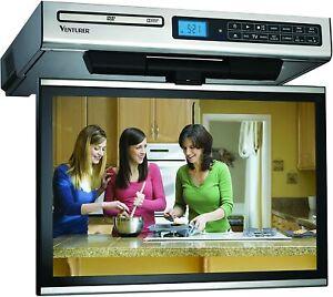 "Venturer KLV3915 15.4"" Undercabinet Kitchen LCD TV with DVD Player - *No HDMI*"