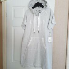 DKNY Sport Logo Tee Sweatshirt Tee Hoodie Dress Size M, NEW
