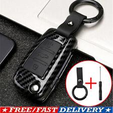 Car Key Shell Fob Case Remote For Audi A3 A4 A6 Q3 Q7 TT S1 S3 Carbon Fiber