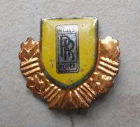 Antique ROLLS ROYCE UK car auto automobilia badge lapel pin logo 1960s brooch
