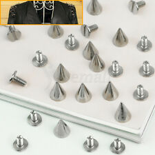 12pcs 10MM Alloy Cone Studs Spike Rivet Sliver DIY Leathercraft Punk Rock Style