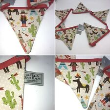 New Gisela Graham Cowboy Horse Bunting Room Interior Design