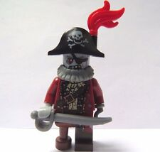 Lego zombie capitaine pirate figurine avec épée red feather halloween