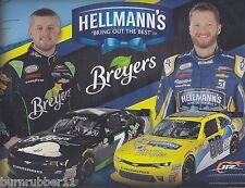 "2016 DALE EARNHARDT JR / J.ALLGAIER ""HELLMAN'S SUAVE"" #7 NASCAR XFINITY POSTCARD"