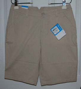 """Columbia Bermuda Shorts 6 Tan 100% Cotton """"Kenzie Cove"""" New With Tags"""