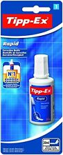 TIPP-EX WHITE CORRECTION FLUID RAPID FAST DRY PAINT BOTTLE WITH BRUSH PAPER
