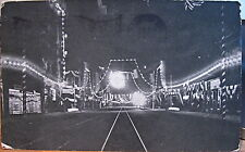 Montana Postcard ELECTRIC CITY GREAT FALLS Central Ave at Night Flag Cancel 1909