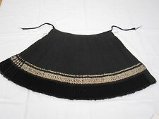 RARE ANTIQUE BULGARIA SKIRT HAND WOVEN, EMBROIDERED GOLD THREADS TINSEL # PLEAT