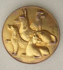 MEDAILLE EXPOSITION CANINE EVIAN 1967 chien caniche boxer etc