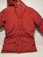 Pre-Owned Vintage Class-5 Down Filled 60/40 Hooded Parka Adult XS Burnt Orange