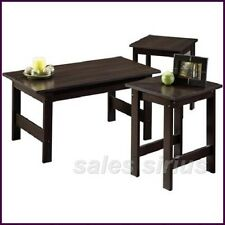 Wood Coffee Table Set Side Cherry Lamp Small Space Wooden End Den Cards Games