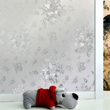 Static Cling Frosted Stained Clear Flower Glass Window Film Sticker Privacy