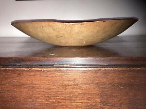 Antique Primitive Wood Dough Bowl AAFA