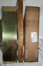 Commercial Door Push Plate In Brass MIP NEVER OPEN