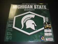NEW Turner 2017 NCAA Michigan State University Spartans Wall Calendar