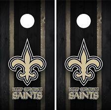 New Orleans Saints Cornhole Wrap Decal Stickers Vinyl Gameboard Skin Set JC078