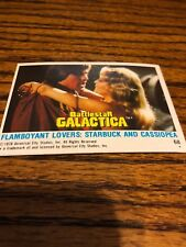 1978 Battlestar galactica card # 68 universal city studios Starbuck Cassiopeia