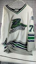 Florida Everblades Hockey Jersey 2XL White Blue Green SP All Sewn ECHL--B20