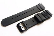 Original Luminox PVD Black DPB Rubber Watch Band 3000 3900 8400 8000 NAVY SEAL