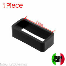 24mm Marco Pallini Black Silicone Strap Retainers Loop Keepers Holder Locker US