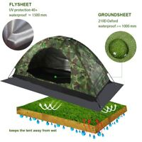 Outdoor Camo Foldable Camping UV Protection Single Person Pop Up Open Tent