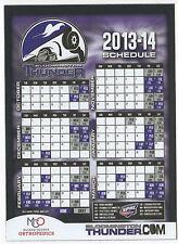 Bloomington Thunder 2013-2014 magnetic schedule Sphl inaugural season Ice Hockey