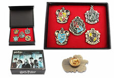 HOT Harry Potter Hogwarts House Metal Brooch Pin Badge Set 5 pcs In Wooden Box