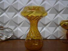 DDR Lauscha Glas Kerzenständer mundgeblasen 70er True VINTAGE Space Age orange