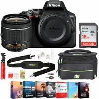 Nikon D3500 24.2MP DSLR Camera with NIKKOR 18-55mm f/3.5-5.6G VR + 16GB Bundle
